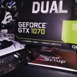 Продам видеокарту ASUS GeForce GTX 1070 DUAL OC 8GB, Новосибирск