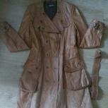 Плащ-пальто из вареной кожи б/у, Новосибирск