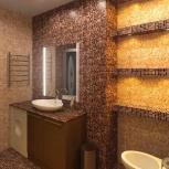 Ремонт квартир, отделка квартир, укладка кафеля, мозаики, Новосибирск