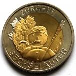 ШВЕЙЦАРИЯ 5 франков 2001 Рождество. Снеговик., Новосибирск