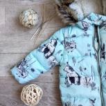 Новая яркая голубая демисезонная куртка для девочки, Новосибирск