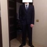 Мужской костюм синий, размер М, Новосибирск
