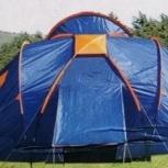 Палатка  6 местная с тамбуром на 3 семьи новая, Новосибирск