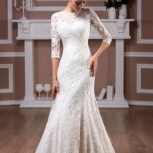 Продам кружевное свадебное платье А-силуэт, Новосибирск