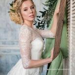 Прически, локоны, брови, макияж, свадебный образ, Новосибирск