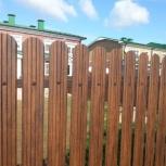Забор из евроштакетника, Новосибирск