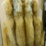 Жилет натуральный мех лиса, Новосибирск