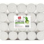 Свечи чайные GRIFON, 100 шт. в п/э упаковке /6/1, Новосибирск