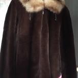 Шубка из бобра с капюшоном из соболя р 46, Новосибирск