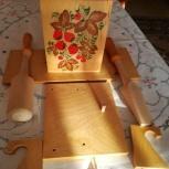 Подвесной деревянный кухонный набор времён СССР, Новосибирск