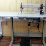 Продам профессиональную прямострочную швейную машину со столом, б/у, Новосибирск