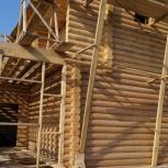 Изготовление срубов из оцилиндрованного бревна, Новосибирск