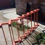 Металлическая лестница с забежными ступенями угловая качественная, Новосибирск