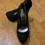 Черные туфли под замшу на высоком каблуке, Новосибирск