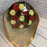 Букет ассорти из шоколадных роз (19 шт), Новосибирск