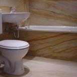 Красивая ванная комната с гибким камнем, Новосибирск