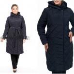 54-58р новое длинное элегантное пальто (файбертек), Новосибирск