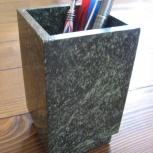 Стакан для ручек и карандашей из мрамора, Новосибирск