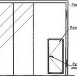 Ворота складчатые ВРС 4.2х4.2-ухл1, серия 1.435.2-28, Новосибирск