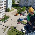 Высотные работы методом промышленного альпинизма, Новосибирск