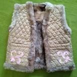 Меховая безрукавка для девочки 2-3 лет, Новосибирск