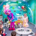 Детские дни рождения в детском клубе Ньютон , Аниматоры, научное шоу, Новосибирск