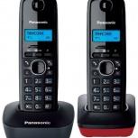 Радиотелефон с двумя трубками panasonic kx-tg1612ru, Новосибирск