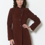 Женское пальто р 42-44, новое. Демисезонное пальто, приталенный силуэт, Новосибирск