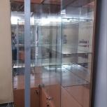 Шкаф-витрина с зеркальной стенкой б/у, Новосибирск