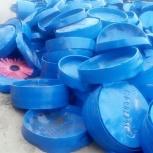 Заглушки синие пластиковые Газпром, Новосибирск