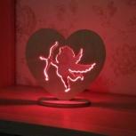 Светильник-ночник из дерева, Новосибирск