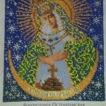 """Продам икону вышитую бисером """"Богородица Острабрамская"""", Новосибирск"""