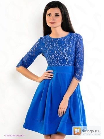 93ab8025f88 Синее платье с кружевом Zarina б у фото