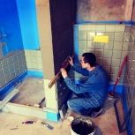 Ремонт ванной комнаты. Укладка плитки, Новосибирск