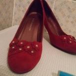 Туфли женские замшевые, размер 38,5-39, Новосибирск