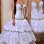 Красивое свадебное платье с вырезом, Новосибирск
