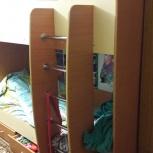 Продам двухъярустную кровать с матрасами, Новосибирск