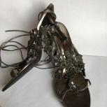 Босоножки (туфли) серый металлик, Новосибирск