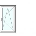 Одностворчатое окно 700х1200, Новосибирск