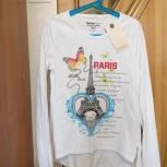 Хлопковая футболка с длинным рукавом GeeJay 146-152 см для девочки, Новосибирск