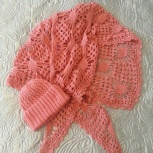 Зимний комплект: шапка и платок, Новосибирск