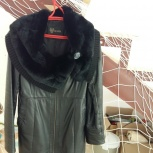 Кожаное женское пальто, Новосибирск