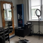 Аренда кресла для парикмахера, барбера, стилиста, визажиста, бровиста, Новосибирск
