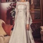 Красивое свадебное платье с рукавами, Новосибирск
