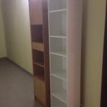 Стеллаж белый, шкаф с закрывающимися на ключи ящиками, Новосибирск