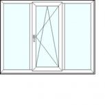 3-хстворчатое окно  под ключ в кирпичный дом, Новосибирск