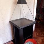 Аквариум пирамида  (в 67см. ш, д55 см ), Новосибирск
