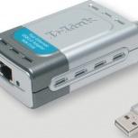 Продам USB сетевую карту D-Link DUB-E100, Новосибирск