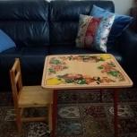Продам детский столик и стульчик, Новосибирск
