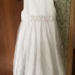 Продам праздничное белоснежное платье 4-6 лет, Новосибирск